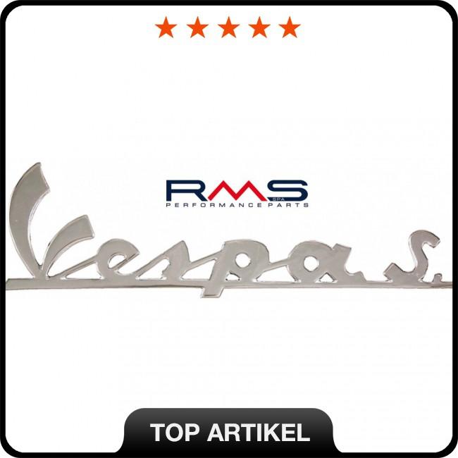 emblem logo schriftzug vespa s 3 pins 150x45mm f220r sprint