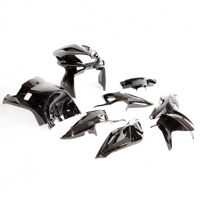 komplette verkleidung yamaha aerox mbk nitro schwarz ebay. Black Bedroom Furniture Sets. Home Design Ideas