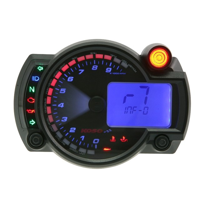 tacho koso digital cockpit rx2n plus 0 10000 tachometer. Black Bedroom Furniture Sets. Home Design Ideas