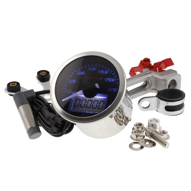 tacho koso eclipse style 0 160 km h tachometer universal. Black Bedroom Furniture Sets. Home Design Ideas