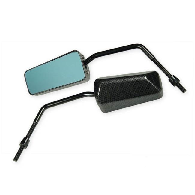 Spiegel str8 f1 style universal carbon look schwarz blaues glas