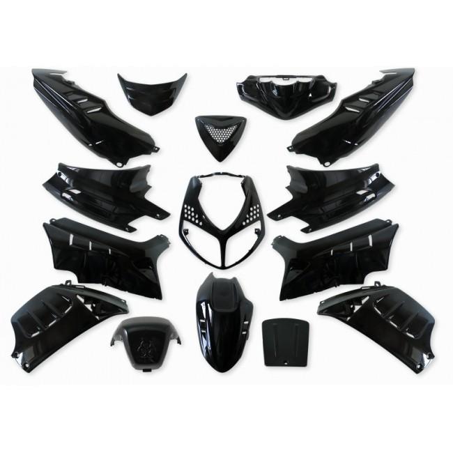 verkleidung 15 teilig stylepro f r peugeot speedfight 2 schwarz metallic roller motorradteile. Black Bedroom Furniture Sets. Home Design Ideas